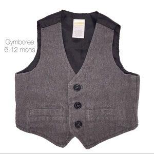 Gymboree Gray Tweed Like Vest 6-12 mons